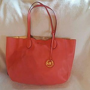 Michael Kors Mae reversible leather travel tote